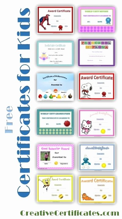 Free Printable Certificates for Students Elegant 184 Best Images About End Of Year Preschool On Pinterest
