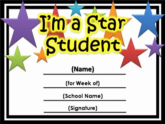 Free Printable Certificates for Students Elegant Free Star Awards