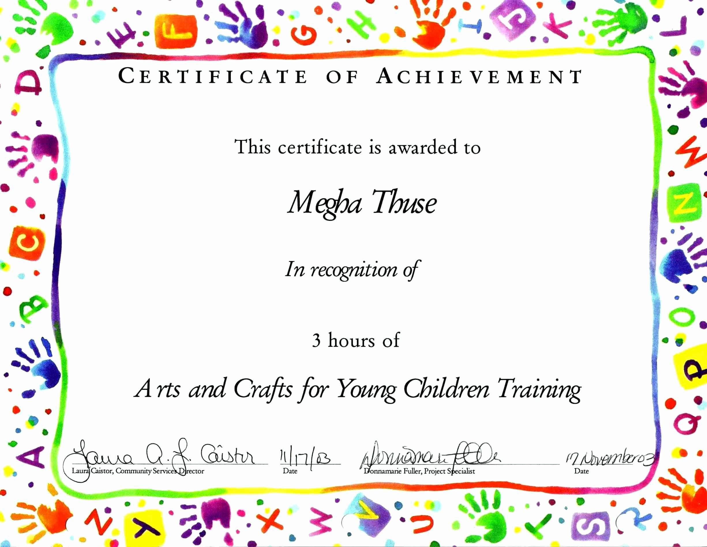 Free Printable Certificates for Students Unique Blank Certificate for Kids Template Update234