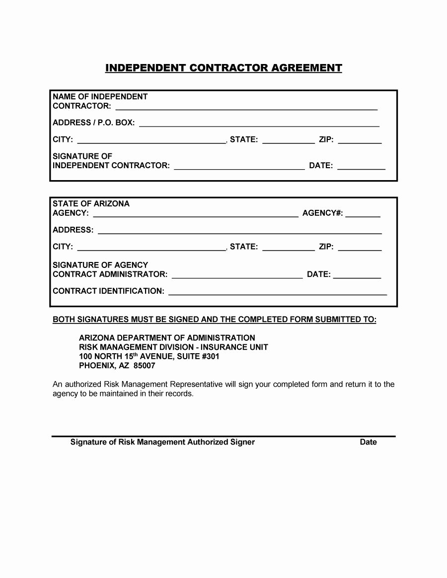 Free Printable Contractor forms Unique 50 Free Independent Contractor Agreement forms & Templates