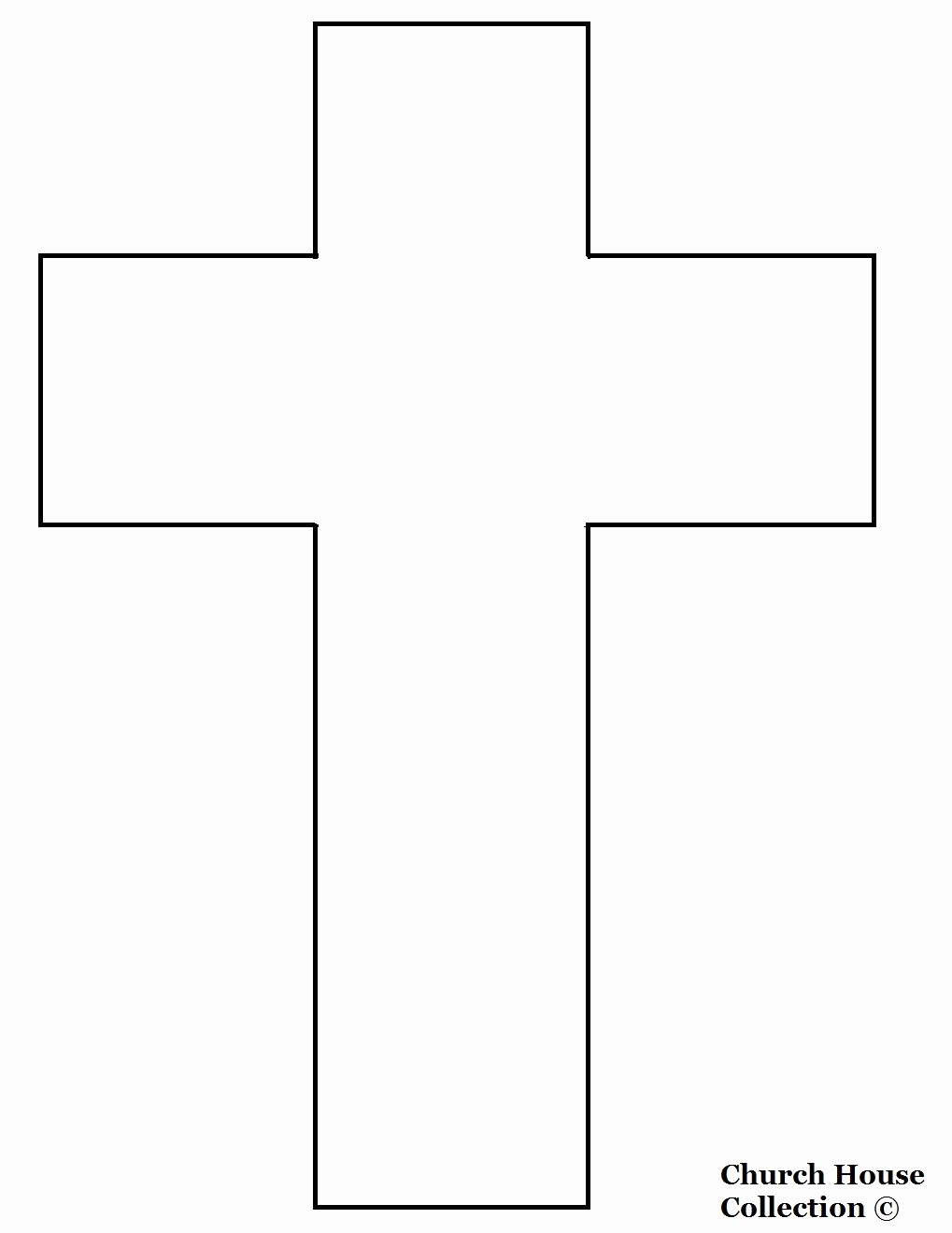Free Printable Cross Template Best Of Church House Collection Blog Jesus Died A Cross Cutout