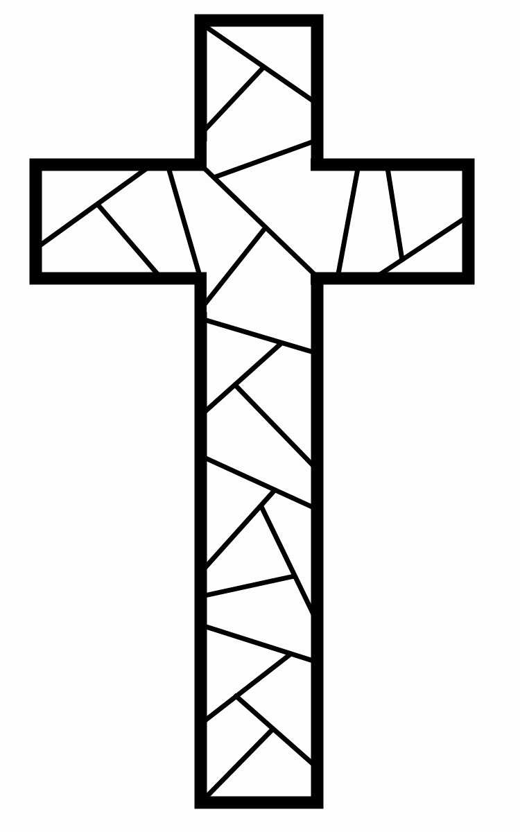 Free Printable Cross Template Best Of How to Make Stained Glass Easter ornaments Kids Crafts