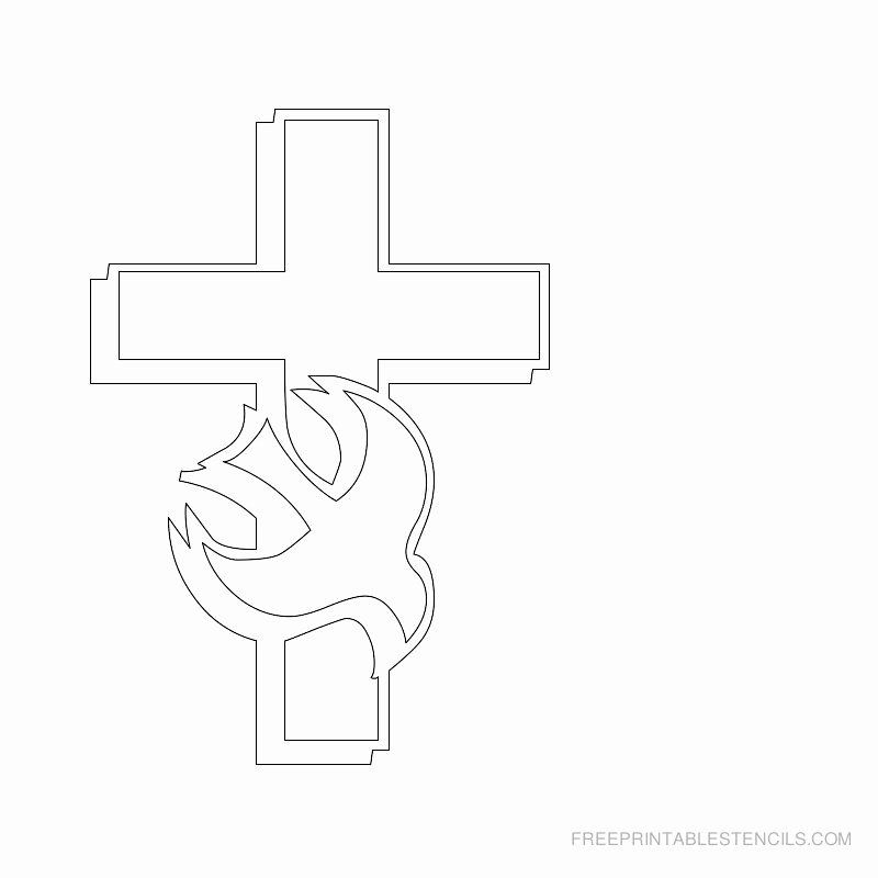 Free Printable Cross Template Best Of Printable Cross Stencils and Hearts
