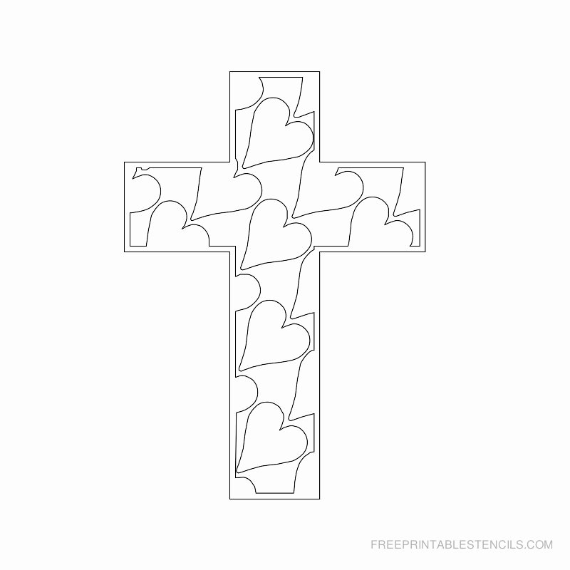 Free Printable Cross Template Elegant Printable Cross Stencils and Hearts