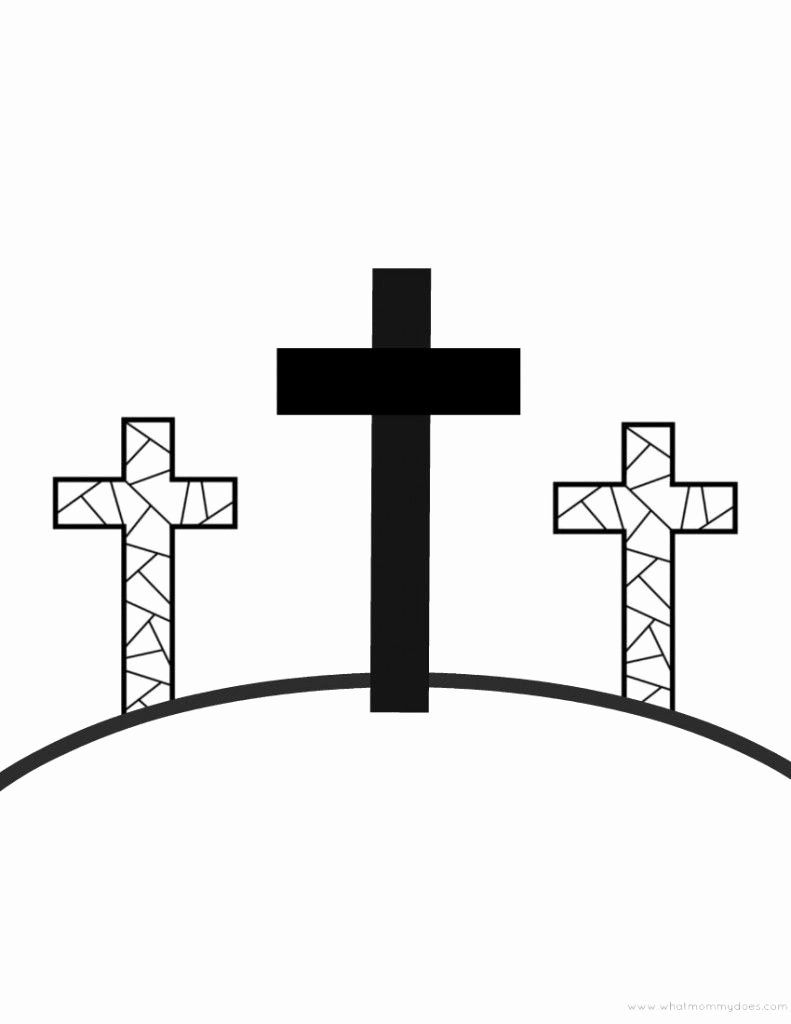 Free Printable Cross Template Lovely Free Printable Easter Coloring Pages