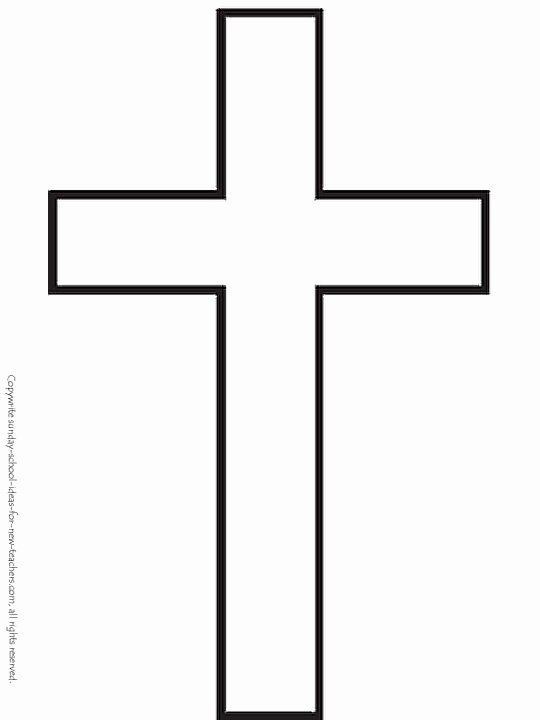 Free Printable Cross Template Lovely Sunday School Coloring Pages Cross Template
