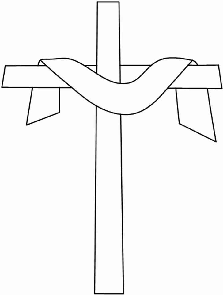Free Printable Cross Template New Easter Cross Stained Glass Pattern Easter Ideas