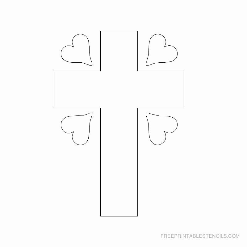 Free Printable Cross Template Unique Printable Cross Stencils and Hearts
