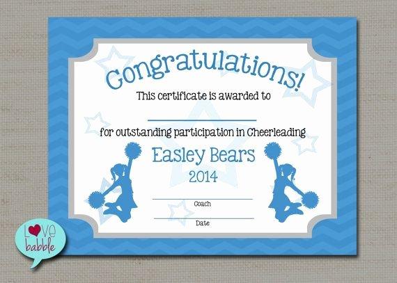 Free Printable Dance Certificates Beautiful Cheerleading Cheer Award Certificate Dance Gymnastics