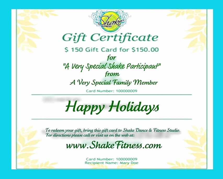 Free Printable Dance Certificates Beautiful Shake Fitness Give or Receive Printable Shake Dance