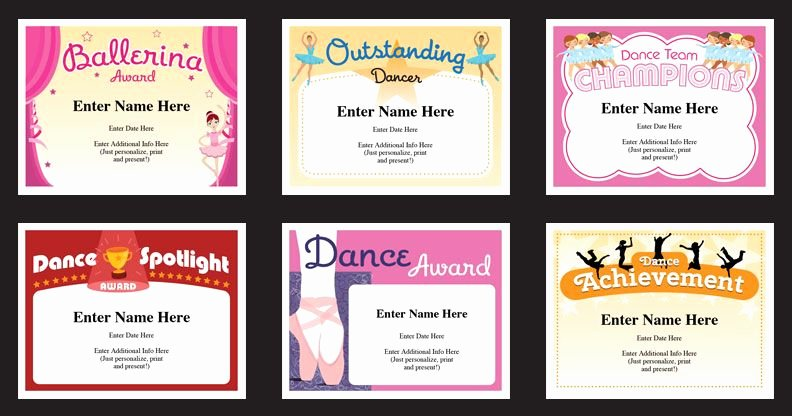 Free Printable Dance Certificates Luxury Dance Certificates Templates Just Personalize Print and