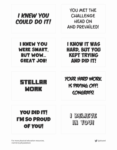 Free Printable Encouragement Cards for Students Elegant Student Encouragement Cards Part 1