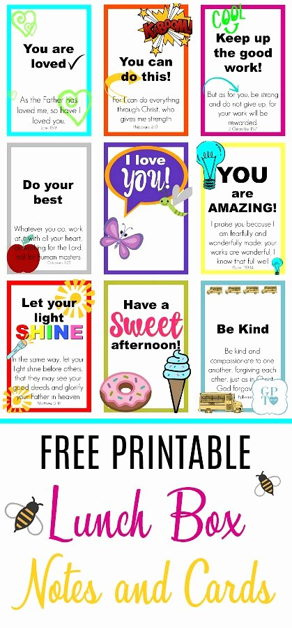 Free Printable Encouragement Cards for Students Luxury Free Printable Lunch Box Notes & Cards