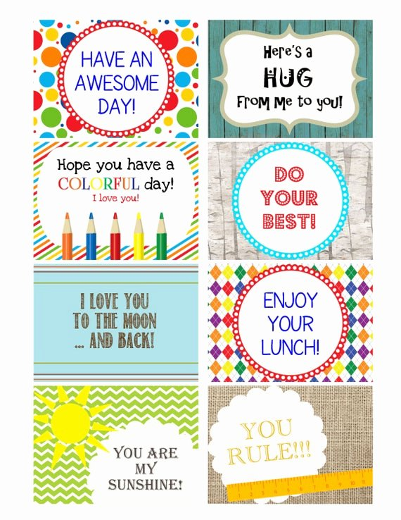 Free Printable Encouragement Cards for Students Luxury Items Similar to Instant Download Printable Kids Lunchbox