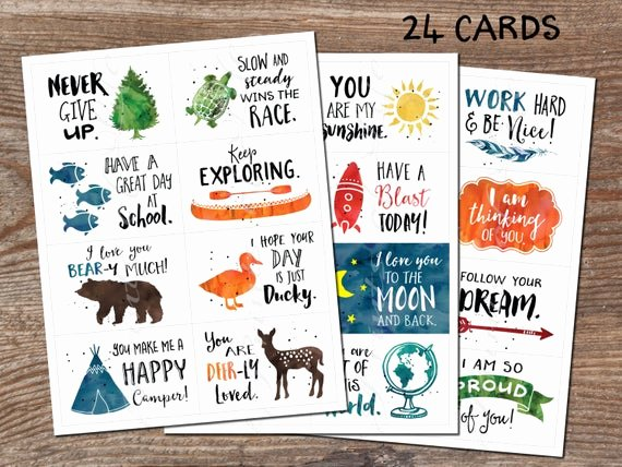 Free Printable Encouragement Cards for Students Luxury Lunchbox Cards Set 5 Instant Printable Pdf 24