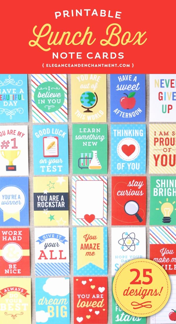 Free Printable Encouragement Cards for Students New A Collection Of 25 Printable Note Cards for Your Kids