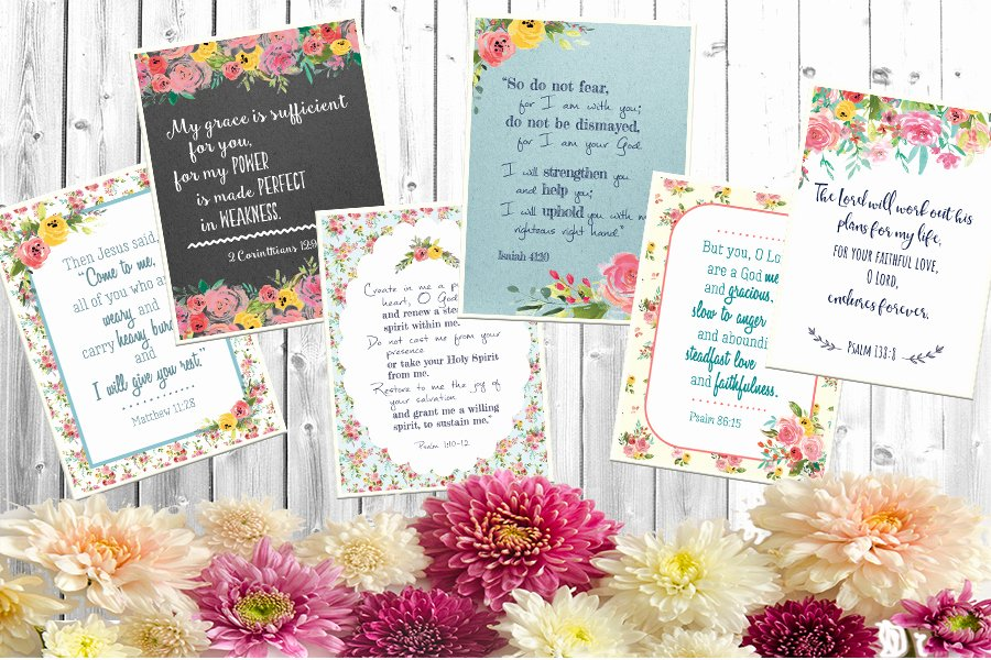 Free Printable Encouragement Cards for Students New Free Printable Scripture Cards