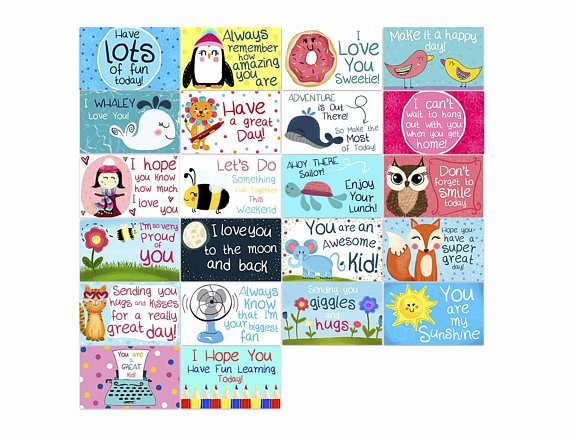 Free Printable Encouragement Cards for Students Unique Lunchbox Notes for Kids Set Of 22 Cards Encouragement
