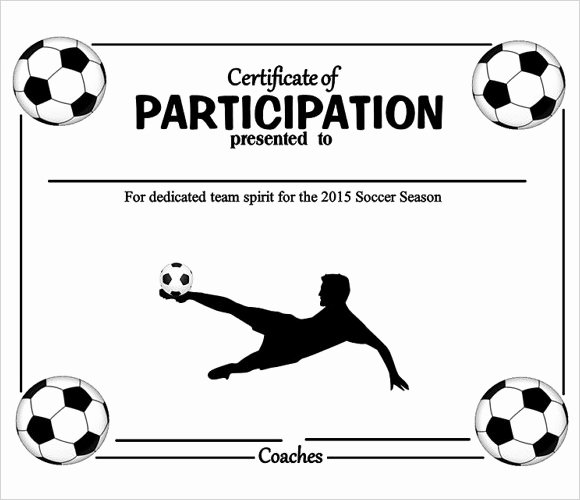 Free Printable Football Certificates Best Of 19 Sample Participation Certificates