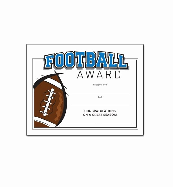 Free Printable Football Certificates Elegant 32 Best Awards & Certificates Images On Pinterest