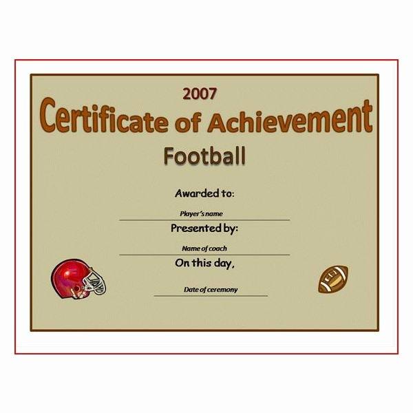 Free Printable Football Certificates Elegant Free Printable Award Certificates 10 Great Options for A