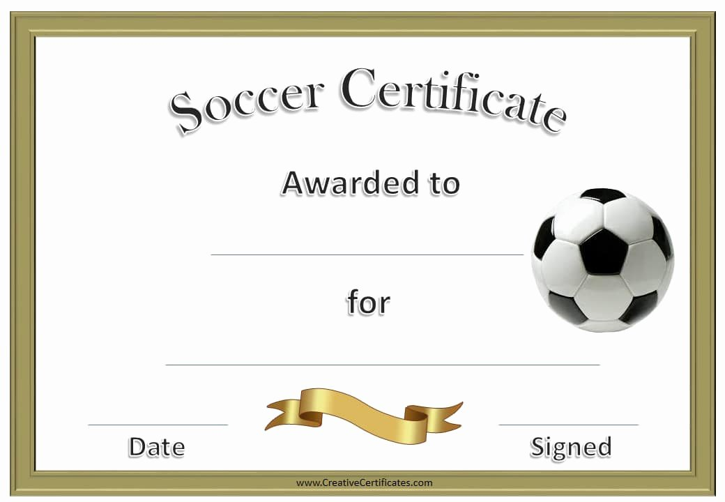 Free Printable Football Certificates Fresh Free Editable soccer Certificates Customize Line