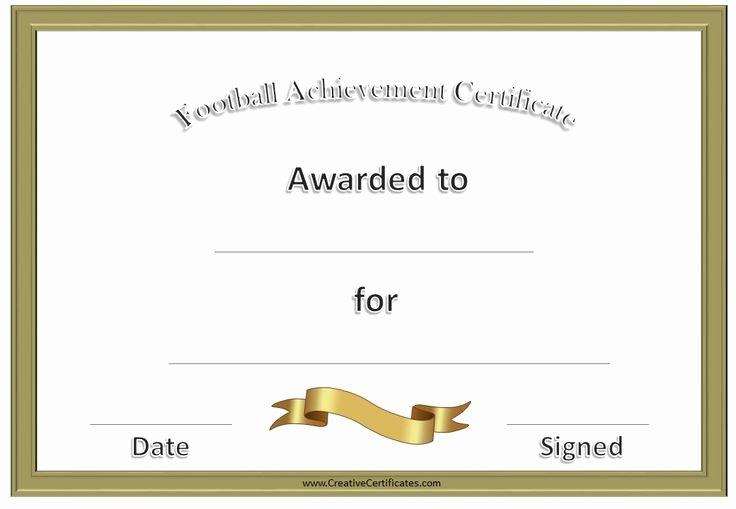 Free Printable Football Certificates Luxury Football Awards Football Pinterest