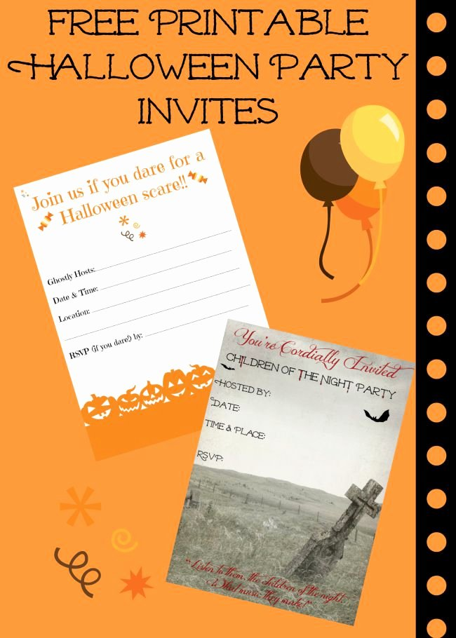 Free Printable Halloween Invitations for Adults Awesome Free Printable Halloween Invitations for Your Super