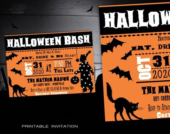 Free Printable Halloween Invitations for Adults Awesome Halloween Party Invitation Printable Adult Halloween