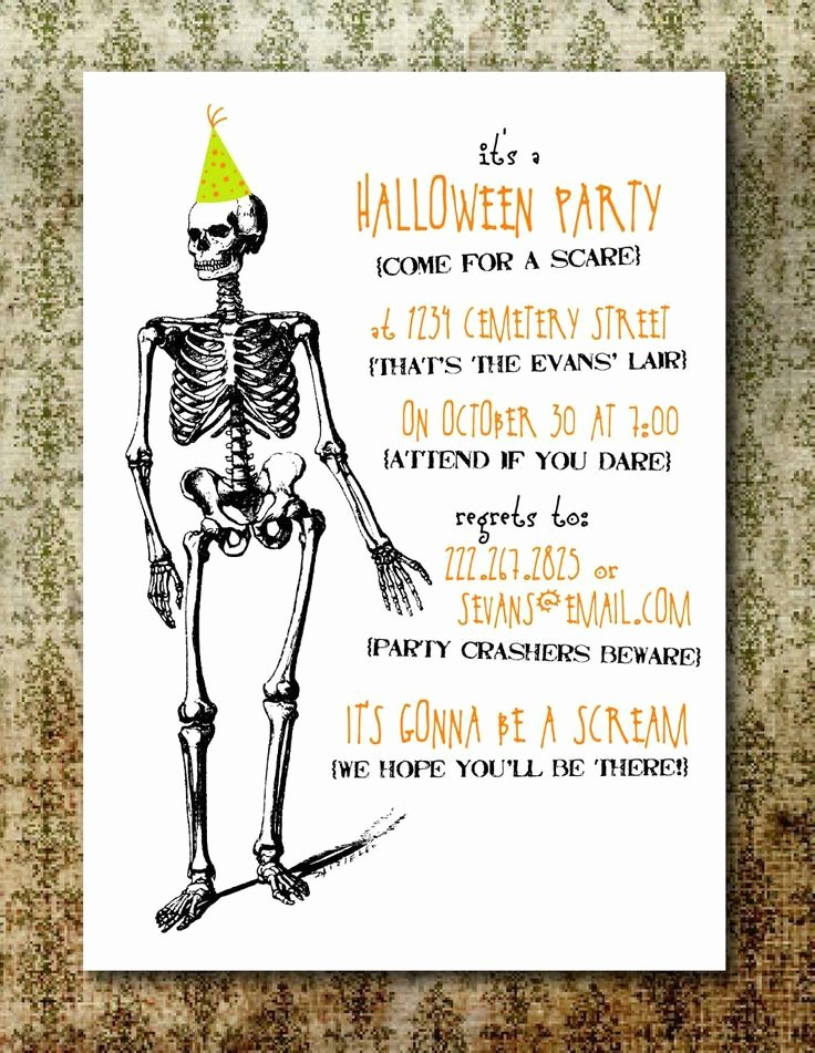 Free Printable Halloween Invitations for Adults Elegant Free Printable Halloween Invitations for Adults