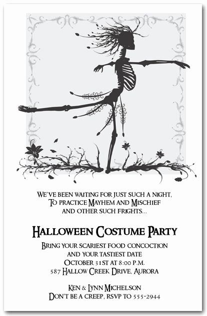 Free Printable Halloween Invitations for Adults Fresh Skeleton Waltz Halloween Invitations