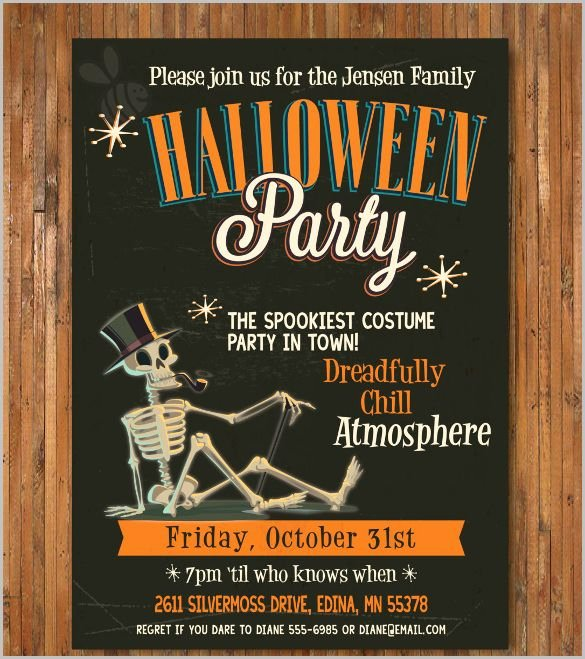 Free Printable Halloween Invitations for Adults Lovely Halloween Invitation 35 Free Psd Vector Eps Ai