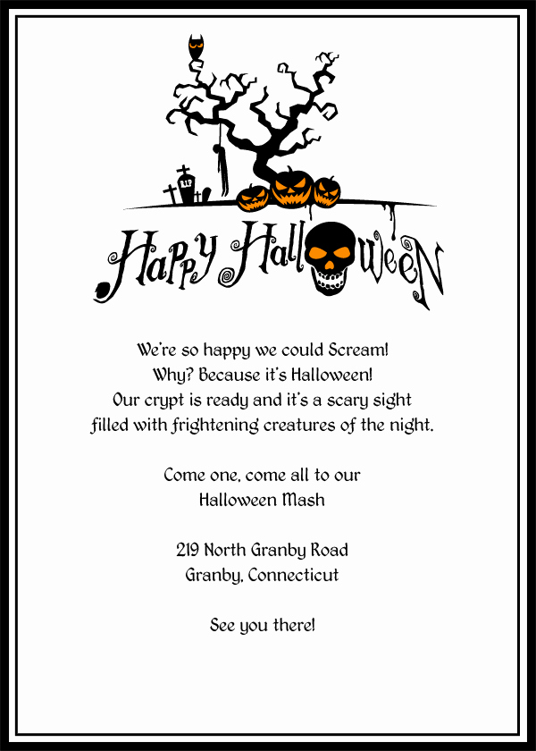 Free Printable Halloween Invitations for Adults New Free Printable Halloween Invitation Flyers – Festival