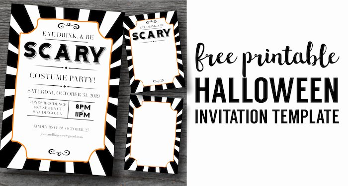 Free Printable Halloween Invitations for Adults New Halloween Invitations Free Printable Template Paper