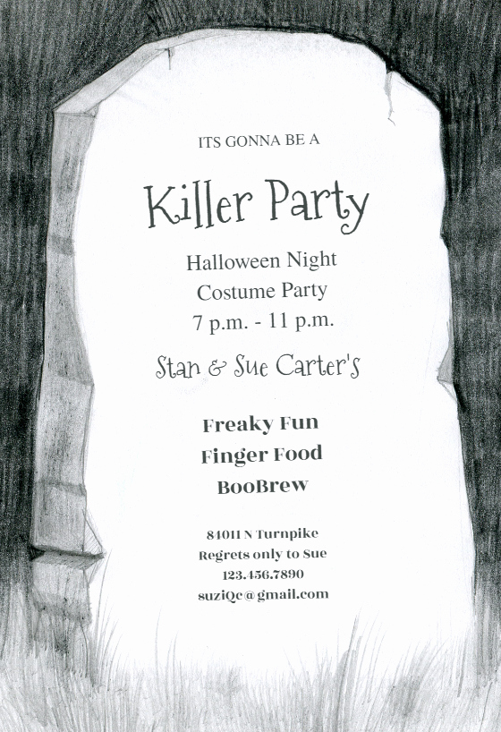 Free Printable Halloween Invitations for Adults Unique A Grave Halloween Party Invitation Template Free