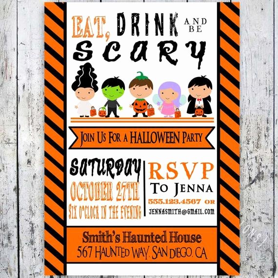 Free Printable Halloween Invitations for Adults Unique Items Similar to Halloween Invitations Adult or Child