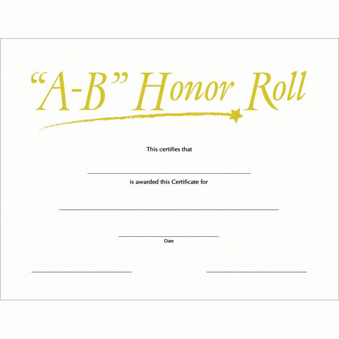 Free Printable Honor Roll Certificates Fresh Free Printable Honor Roll Certificates