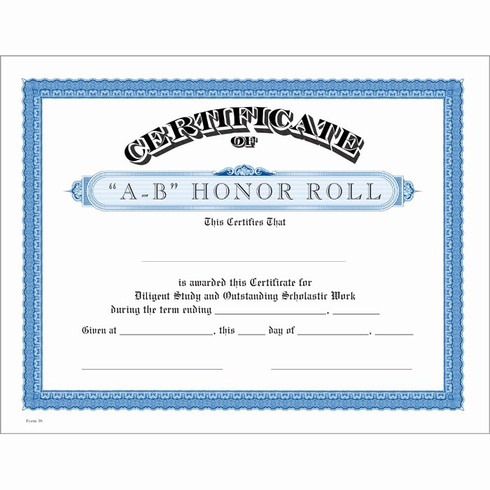 Free Printable Honor Roll Certificates New Honor Roll Certificates