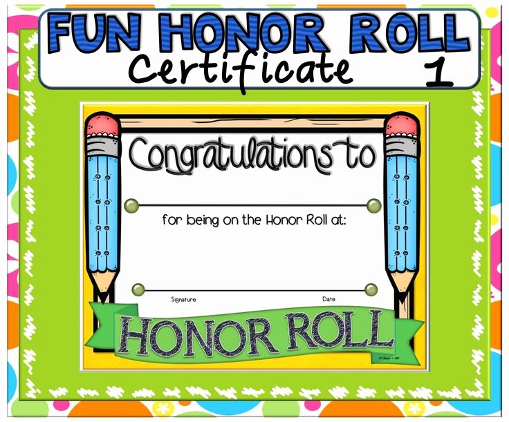 Free Printable Honor Roll Certificates Unique 12 Best Printables Images On Pinterest