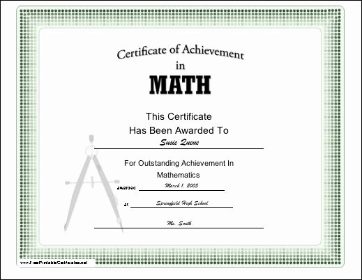 Free Printable Math Certificates Awesome 1000 Images About Student Achievement Awards On Pinterest