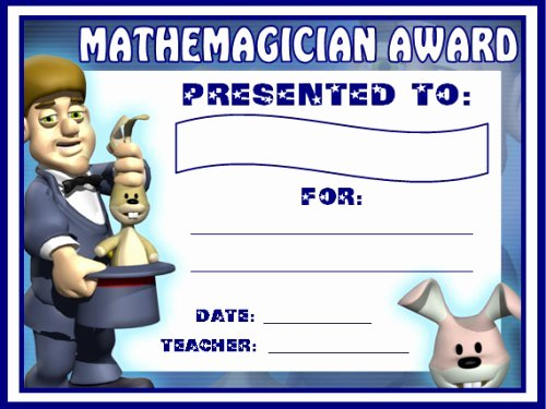Free Printable Math Certificates Awesome Math Awards Certificates
