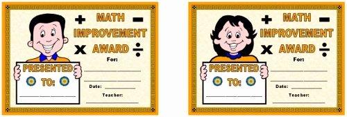 Free Printable Math Certificates Elegant Math Awards Certificates