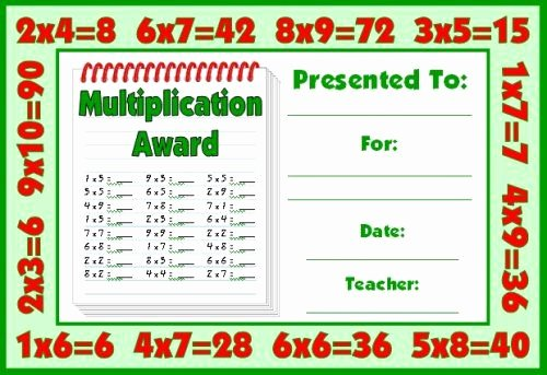 Free Printable Math Certificates New Math Awards Certificates Projects to Try