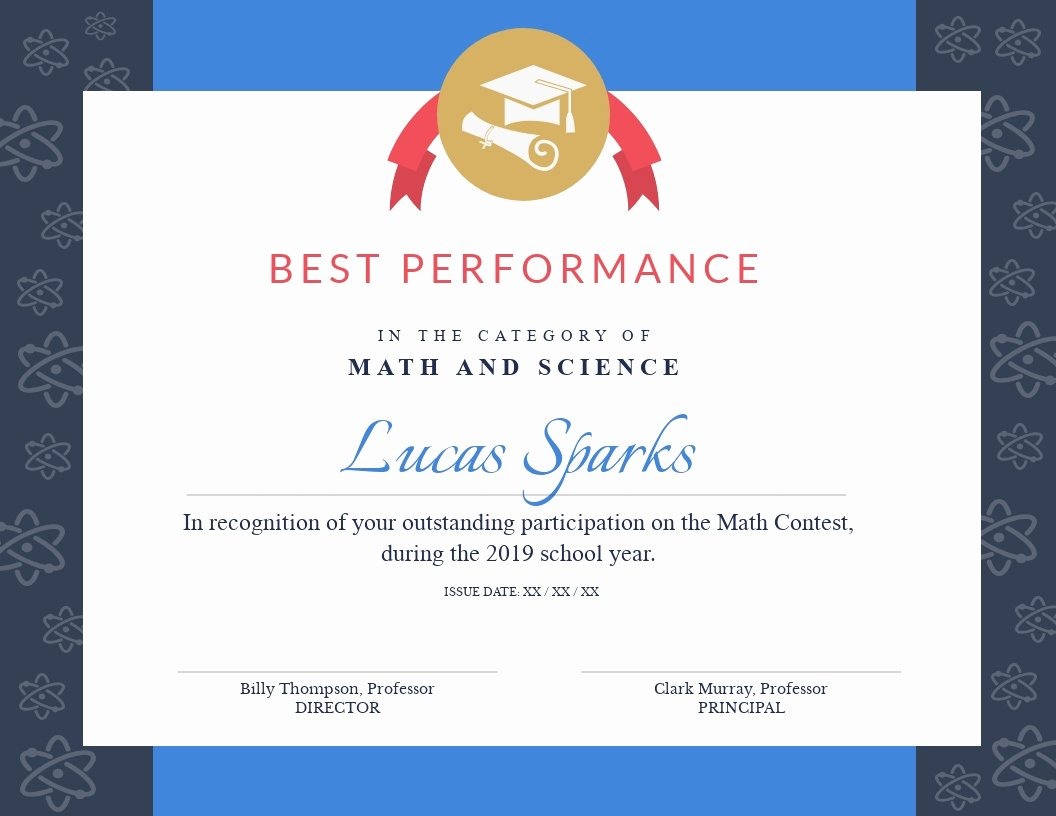 Free Printable Math Certificates Unique Certificate Templates