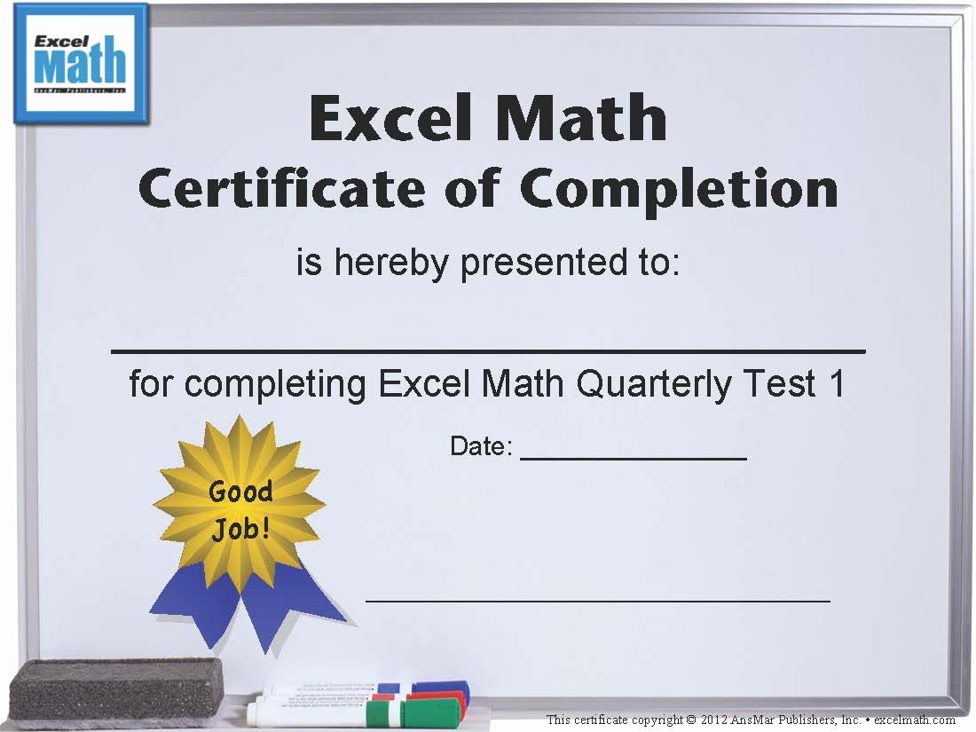 Free Printable Math Certificates Unique Excel Math Printable Math Certificates and Awards