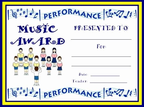 Free Printable Music Certificates Elegant 19 Best Chorus Music Certificates Images On Pinterest