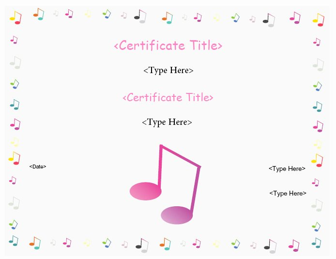 Free Printable Music Certificates Luxury Certificate Street Free Award Certificate Templates No