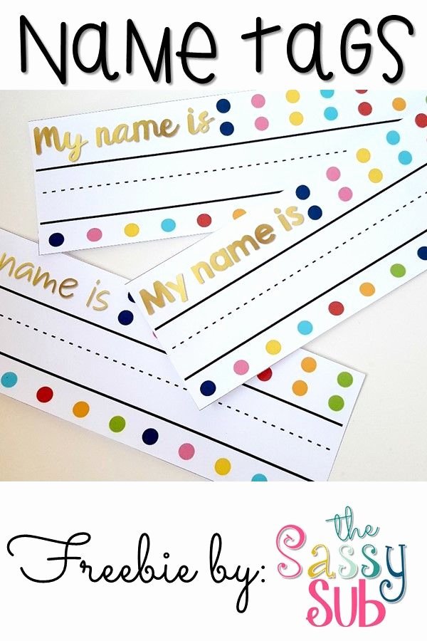 Free Printable Name Plates for Office Unique Free Polka Dot and Gold Name Tags