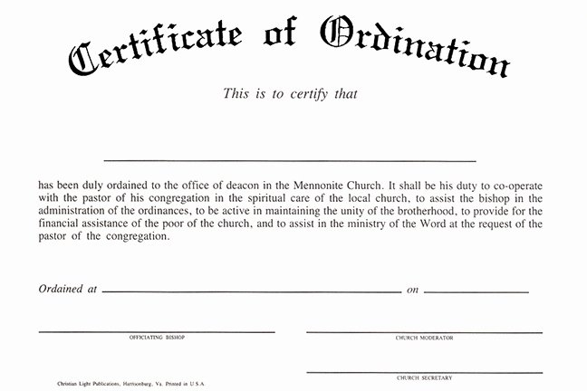 Free Printable ordination Certificate Inspirational Christian Light Publications