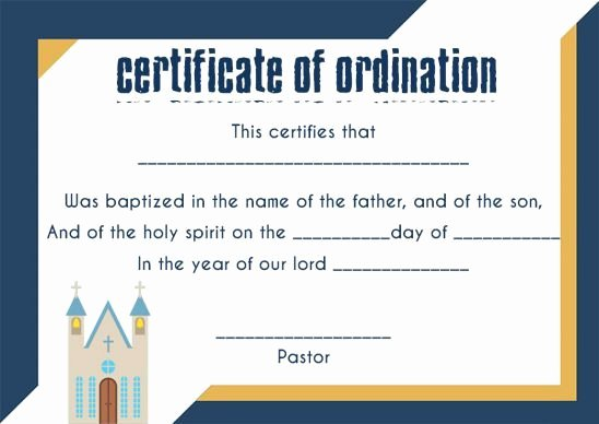 Free Printable ordination Certificate Lovely ordination Certificate Template 14 Unique and Free